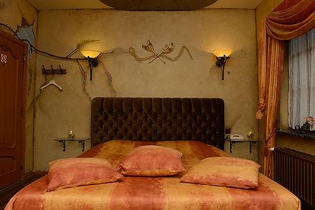 Voorbeeld van een themakamer van rendez-vous hotel De Inslag namelijk de Italiaanse kamer
