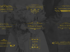 Gold Wedding Titles 30917427 Free Download After Effects Project