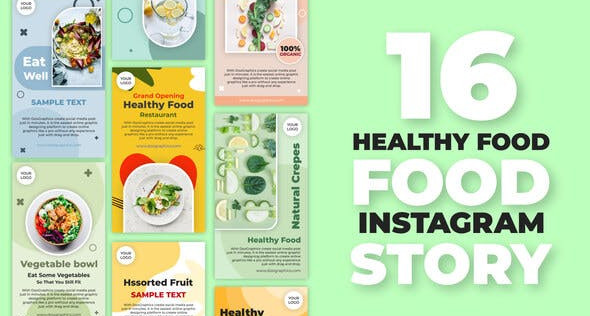Healthy Food Instagram Stories 32483729 Free Download After Effects Project