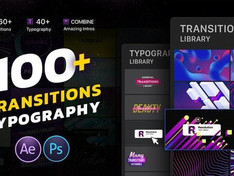 VIDEOHIVE TRANSITIONS & TYPOGRAPHY LIBRARY