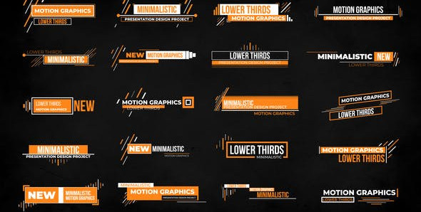 Clean Lower Thirds 28472926 Videohive – Free Download After Effects Template