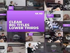 VIDEOHIVE CLEAN BIG TITLES LOWER THIRDS