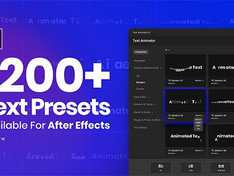 VIDEOHIVE TEXT ANIMATOR – ONE CLICK TEXT PRESETS