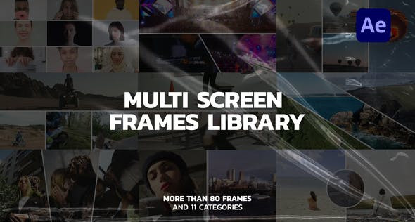 Multi Screen Frames Library 32563837 Videohive – Download After Effects Template