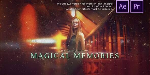 Particles Slideshow Magical Memories 31161851 Free Download Premiere Pro Templates