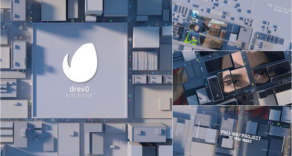 VIDEOHIVE CITY OPENING/ TOWN INTRO/ 3D ROOF OF THE BUILDING/ SOCIAL DRAMATIC LOGO REVEAL/ ECONOMICS