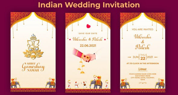 Indian Wedding Invitation 32306848 Free Download After Effects Project