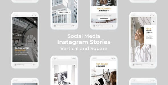 VIDEOHIVE SOCIAL MEDIA INSTAGRAM STORIES | VERTICAL AND SQUARE