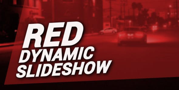 Red Dynamic Slideshow 12317594 Free Download After Effects Project