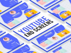 VIDEOHIVE CLEAN YOUTUBE END SCREENS
