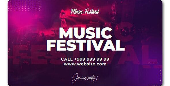 VIDEOHIVE MUSIC FESTIVAL PROMO 24305730