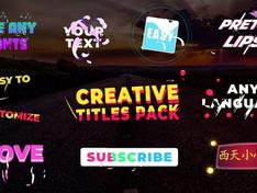 VIDEOHIVE CREATIVE TITLES | PREMIERE PRO MOGRT