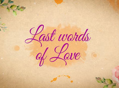 Last Words of Love – Beautiful Title Sequence 31834678 Free Download After Effects Project