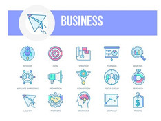 VIDEOHIVE BUSINESS – FILLED OUTLINE ANIMATED ICONS