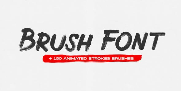 Brush Animated Font 31366550 Free Download After Effects Project
