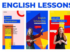 English Lessons Study Stories Instagram 31121330 Free Download After Effects Project