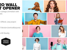 Video Wall Fast Opener 4K and Social 30384691 Videohive – Download After Effects Template