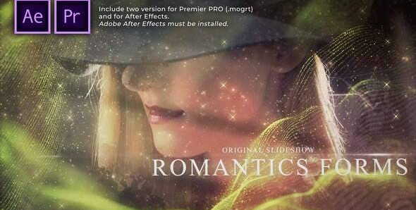 Romantic Forms Particles Slideshow 31368899 Free Download After Effects Project