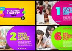 Children E-Safety Tips – Kids Education 30470989 Videohive – Download After Effects Template