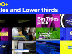 VIDEOHIVE TITLES AND LOWER THIRDS PACK 200