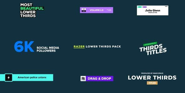 VIDEOHIVE LOWER THIRDS – RAZER – AE PROJECT