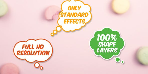 15 Speech Bubbles 26194902 Videohive – Download After Effects Template