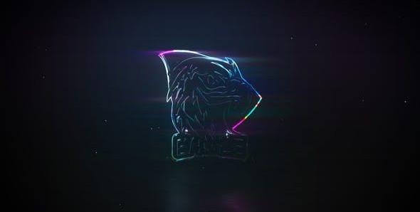 VIDEOHIVE NEON GLASS   GLITCH LOGO REVEAL