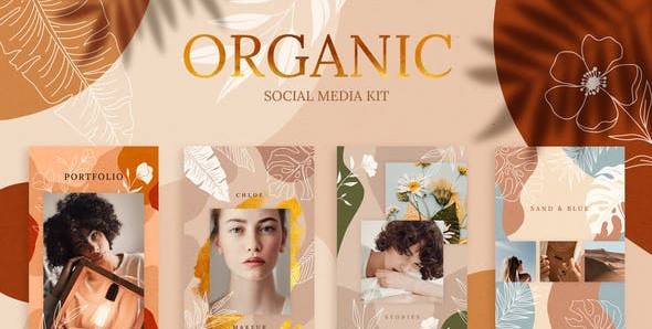 Organic Social Media Kit 30255928 Videohive – Download After Effects Template
