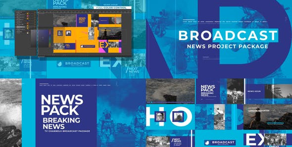 News Broadcast Pack 26021886 Free Download After Effects Project