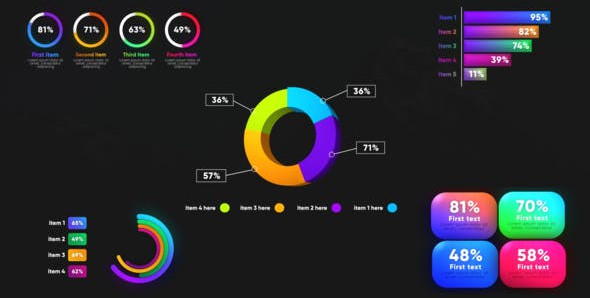 Infographic Graphs Toolkits 26669281 - Download Free After Effects Template