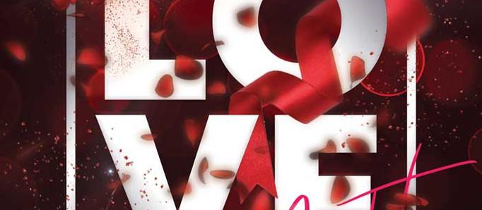 Valentines Love Night Free Flyer Template