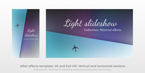 Light Slideshow – Fullscreen Slideshow 31348272 Free Download After Effects Project