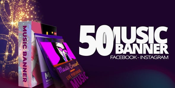 50 Music Banners Ad 31880883 Free Download After Effects Project