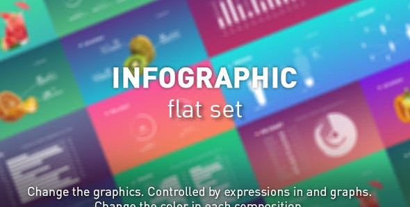 Infographic flat set 21490010 Videohive – Free Download After Effects Templates