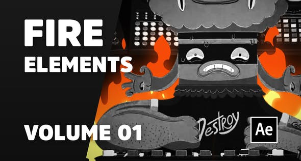 Fire Elements Volume 01 [Ae] 31041232 Videohive – Download After Effects Template