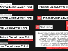 VIDEOHIVE MINIMAL CLEAN LOWER THIRDS – PREMIERE PRO
