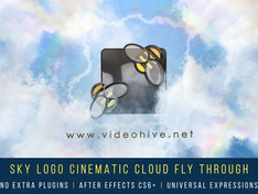 VIDEOHIVE SKY LOGO CINEMATIC CLOUD FLY-THROUGH
