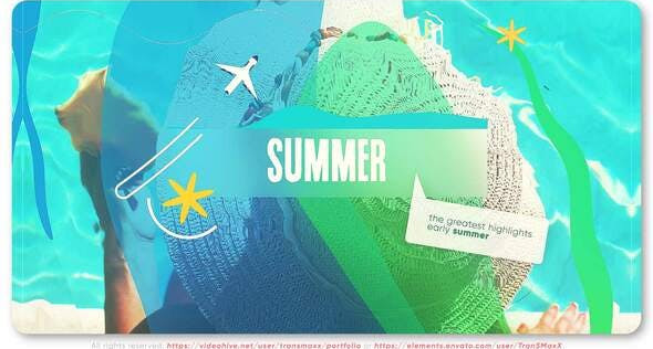Videohive Summer & Vacation Blog Intro 32110559 Free Download After Effects Project