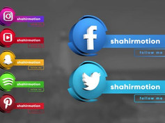 Social Media 3D Lowerthirds 30947077 Free Download After Effects Project