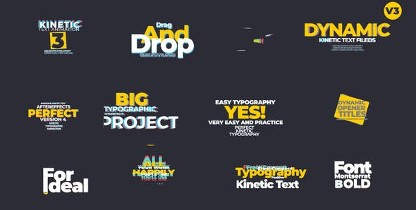 Kinetic Text Animation V3 23970724 Videohive – Download After Effects Template