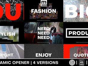 Dynamic Typography Opener 31479910 Videohive – Download After Effects Template