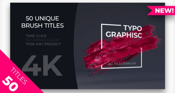 50 Brush Titles Pack 23135696 Videohive – Download After Effects Template