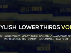 Stylish Lower Thirds vol.2 12810844 Free Download After Effects Project