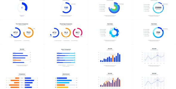 Infographics Charts Pack 25507970 Videohive – Free Download After Effects Templates