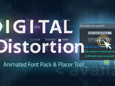 VIDEOHIVE DIGITAL DISTORTION ANIMATED FONT PACK WITH TOOL