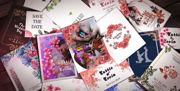Wedding Invitation Slideshow B31 31552496 Free Download After Effects Project
