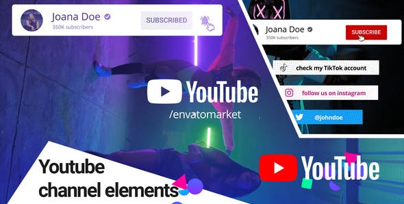 Youtube Channel Elements 31479141 Videohive – Download After Effects Template