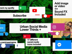 Urban Social Media Lower Thirds 30928457 Free Download After Effects Project
