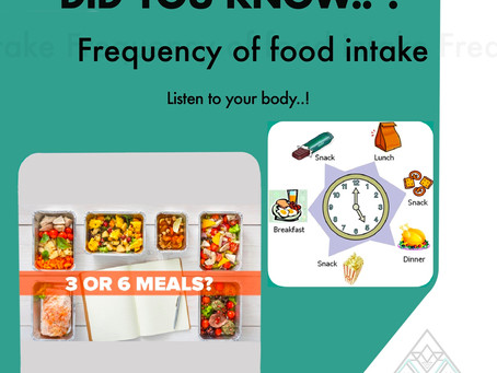 Frequency of food intake