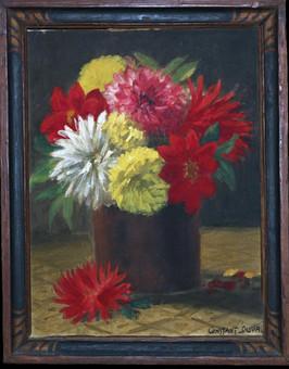 Vase aux dahlias